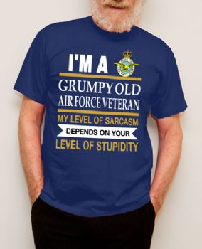 Grumpy Old Air Force Veteran T-shirt